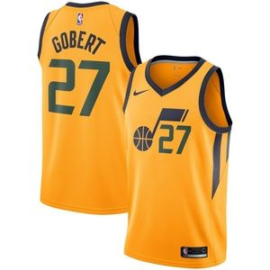 Utah Jazz Rudy Gobert Gold Jersey